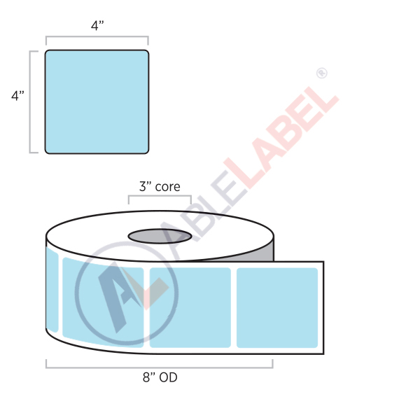 Direct Thermal Color Paper Labels   Able Label   4