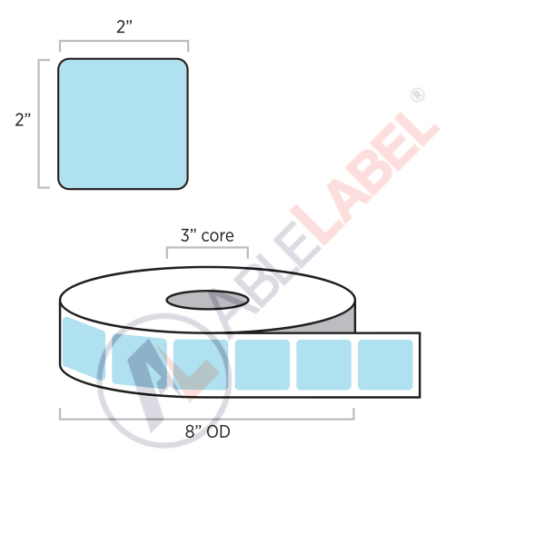 Direct Thermal Color Paper Labels   Able Label   2