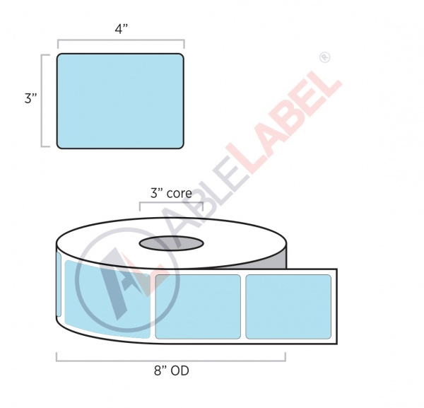Direct Thermal Color Paper Labels   Able Label   3