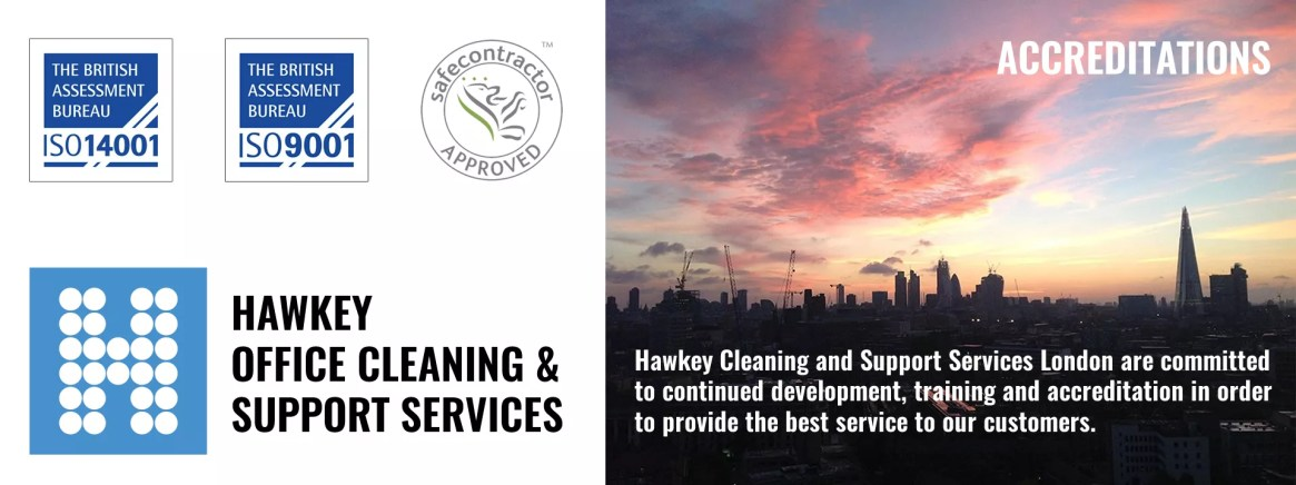 Hawkey Office Cleaning London - Fully Accredited