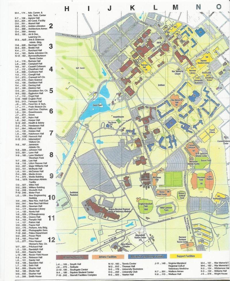 Virginia Tech Campus Map 2013
