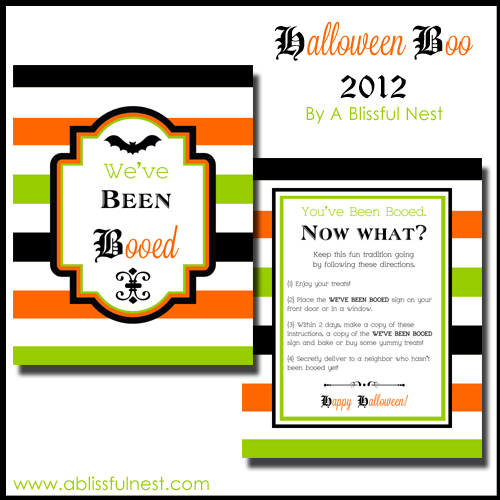 picture about Booed Signs Printable named Do-it-yourself Boo Indications Guideline - Weve Been Booed! A Blissful Nest