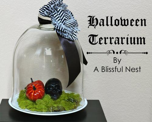 DIY Spooky Halloween Terrarium - for your next Halloween party!