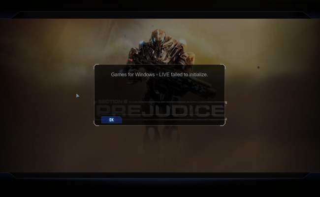 Prejudice Games For Windows Live Failed To Initialize