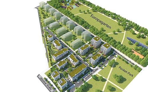 Europaviertel West ohne Quartier Boulevard Mitte  Seite