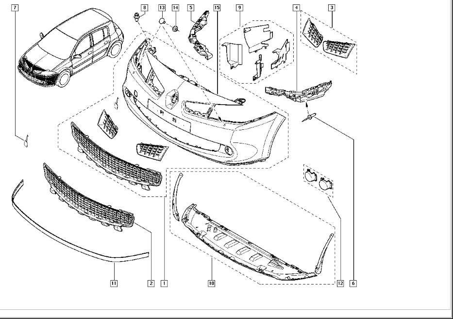 Renault Megane 2 Explosionszeichnung