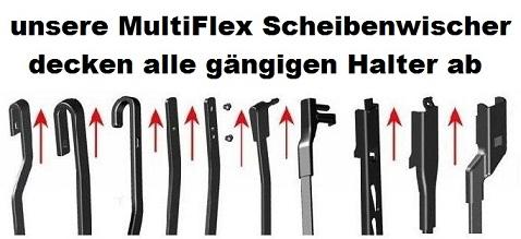 2x Scheibenwischer Flex MultiClip (Set) Audi A4 8E B6 B7