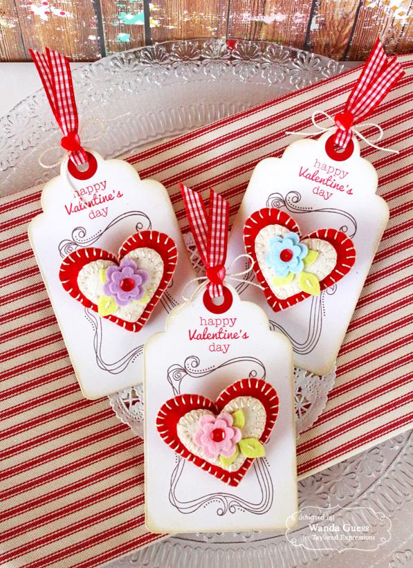 Felt Heart Valentine Pins A Blog Called Wanda