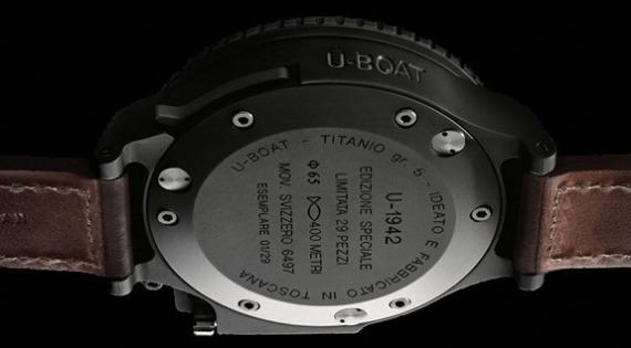 U-Boat U-1942 Limited Edition Watch: Giant Retro Italian Diver Watch Releases