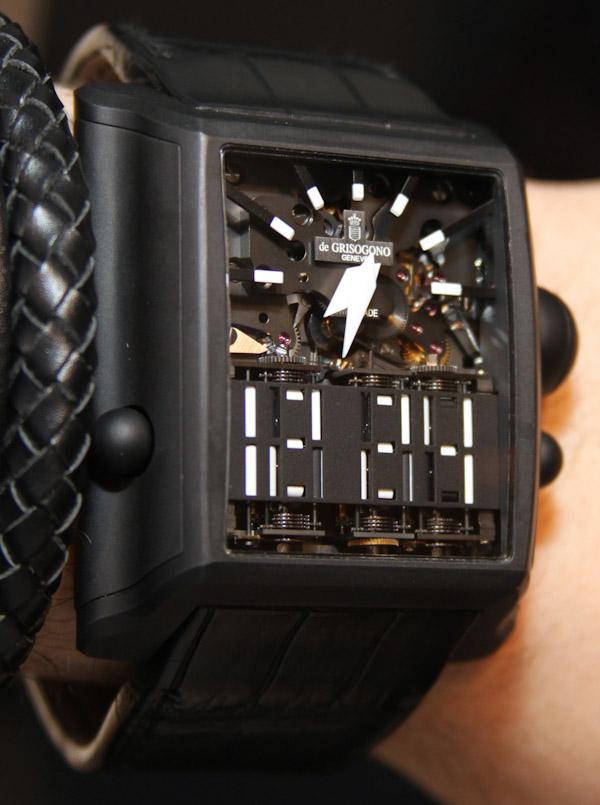 de GRISOGONO Meccanico dG Watch HandsOn  aBlogtoWatch