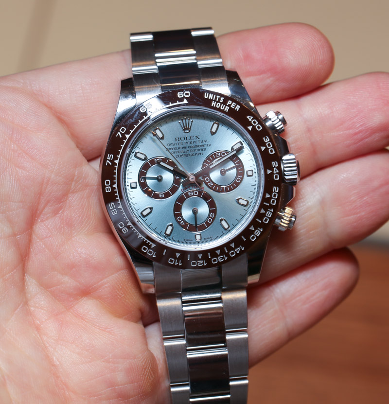 Rolex Cosmograph Daytona 116506 In Platinum Hands-On: An Homage To Paul Newman? | aBlogtoWatch