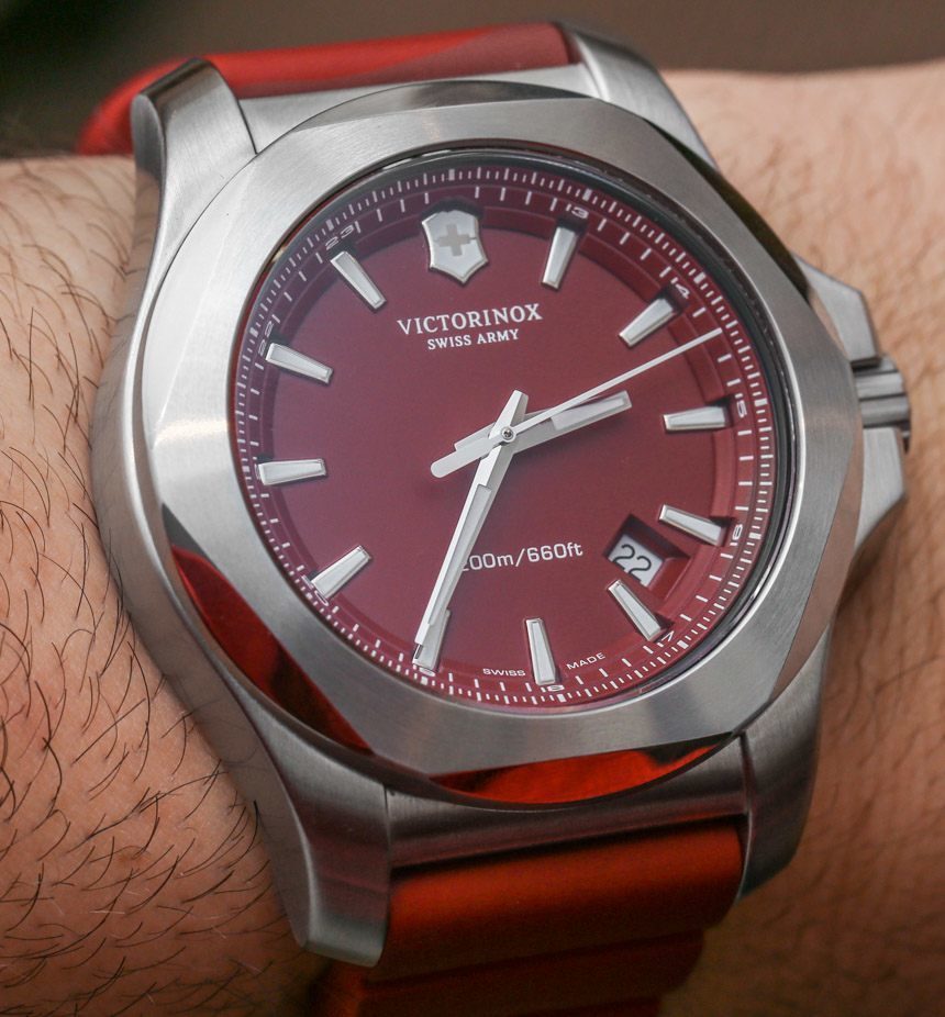 New Victorinox Swiss Army Inox Watches For 2015 With Red