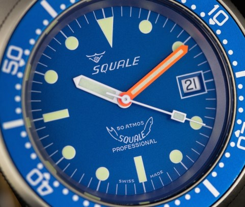 Squale 50 Atmos Ocean Blasted 1521-026 Diver's Watch Review Wrist Time Reviews