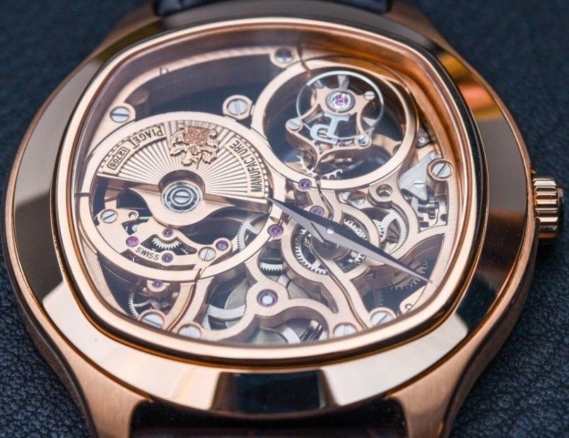 ca6bfd08fb3 Piaget Emperador Cushion Tourbillon Automatic Skeleton Watch For 2015  Hands-On Hands-On