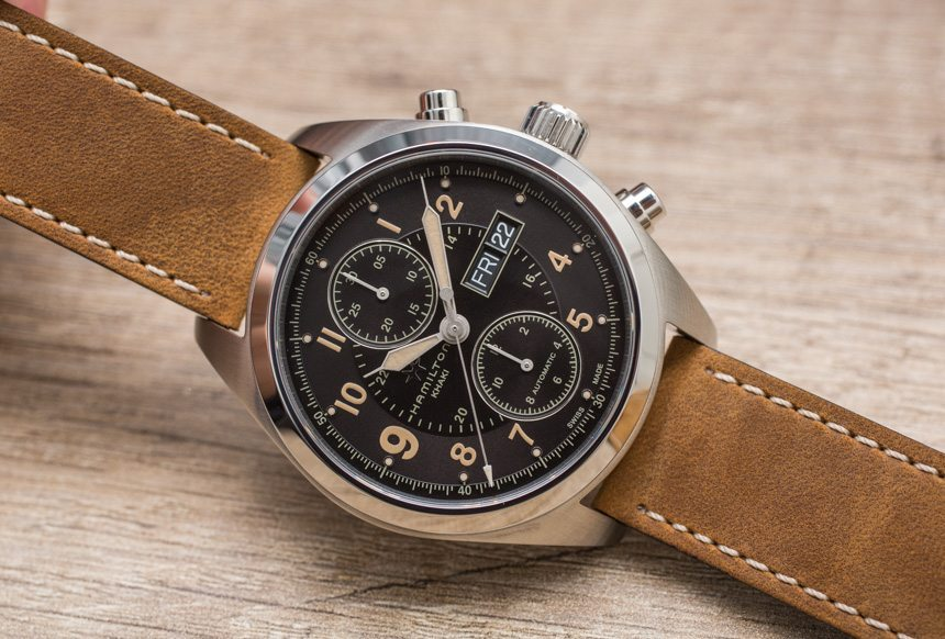hamilton khaki field auto chrono watch hands on ablogtowatch. Black Bedroom Furniture Sets. Home Design Ideas