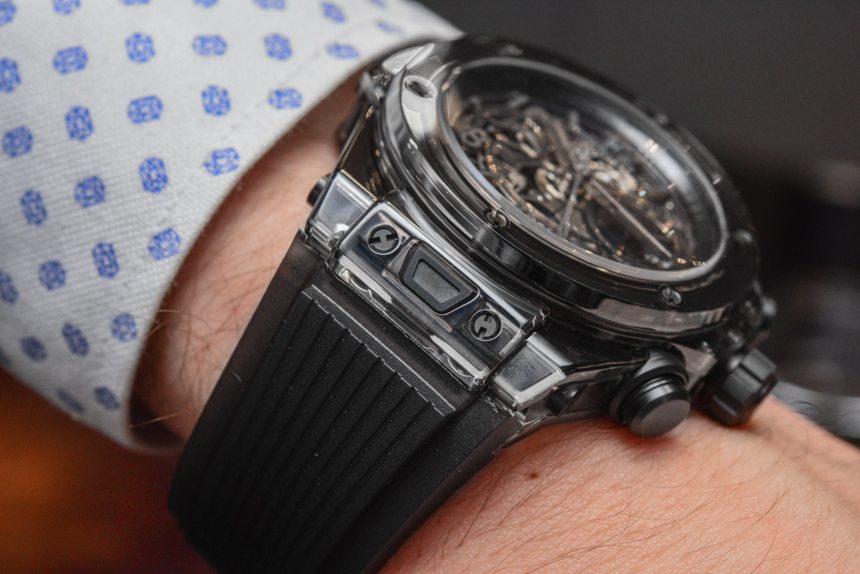 hublot big bang unico sapphire all black watch hands