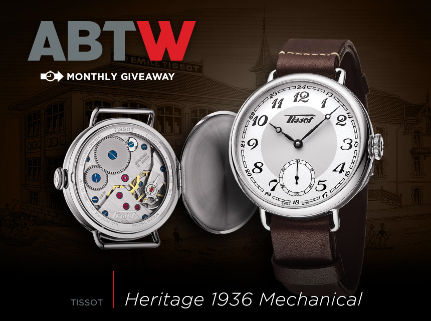 winner announced tissot heritage 1936 mechanical watch giveaway