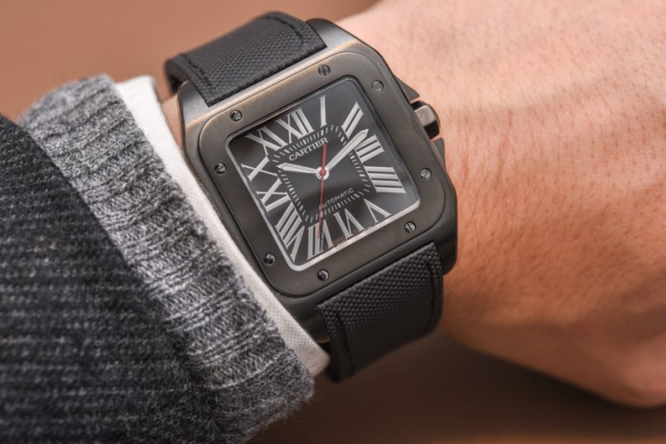 538418dfcbd Cartier Santos 100 Carbon Watch Hands-On Hands-On