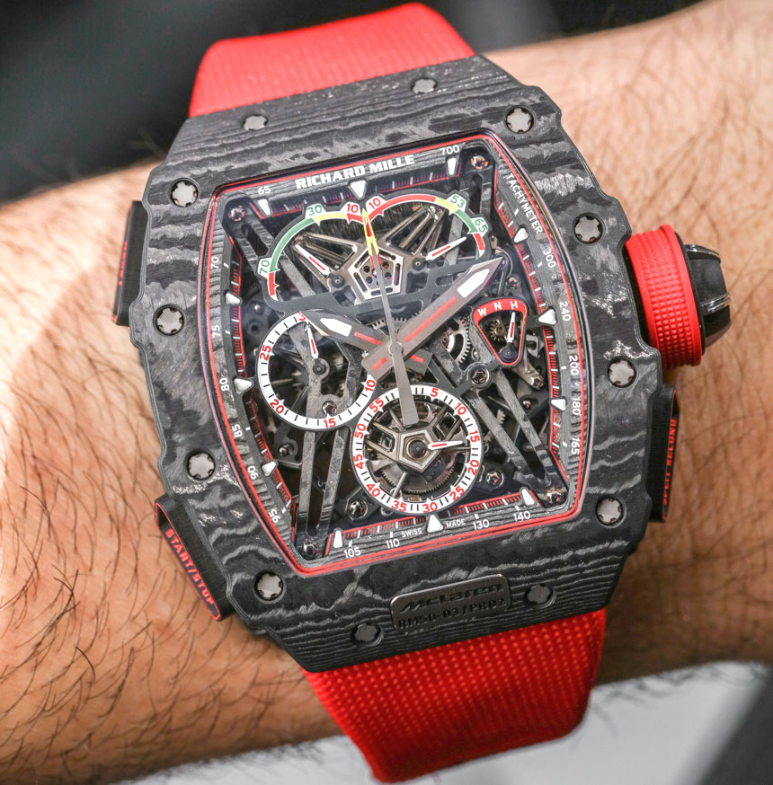 Richard Mille RM 50-03 McLaren F1 Record-Setting Lightweight Watch For $1,000,000 Hands-On Hands-On