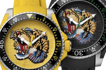 d29d04ed385 Gucci Dive Watches For 2017 With Embroidery   Rubber Animal Dials Watch  Releases