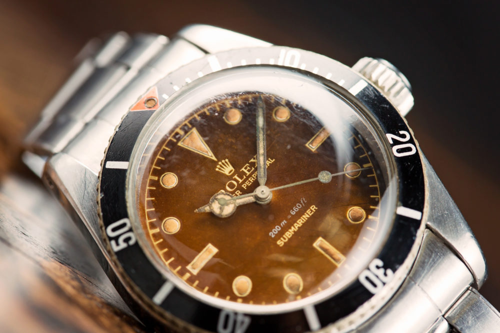 Rolex Submariner 'Big Crown' Tropical Dial Ref. 6538 Watch With A Long  History