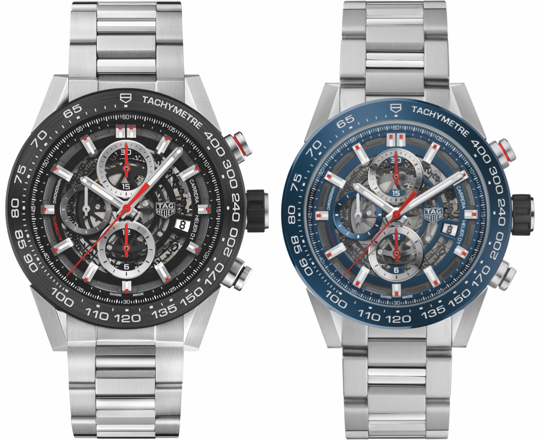 Tag Heuer Carrera 01 43mm Watches For 2017 Ablogtowatch Space Leather Watch Releases