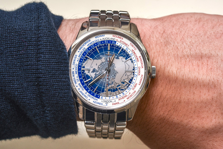Jaeger lecoultre geophysic universal time watch on bracelet hands on ablogtowatch for Geophysic watches