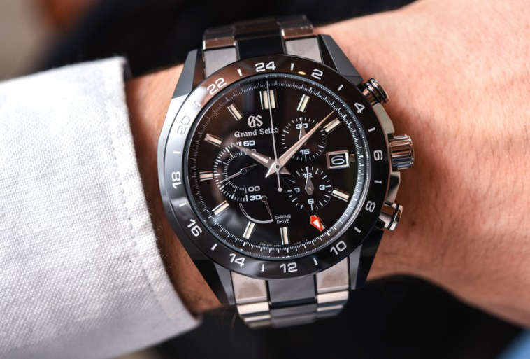 Grand Seiko Black Ceramic Spring Drive Chronograph GMT Watches Hands-On Hands-On