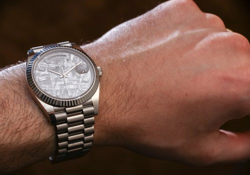 f73effef32e Rolex Day-Date 40 White Gold Meteorite Dial 228239 Watch Hands-On Gold  Watches