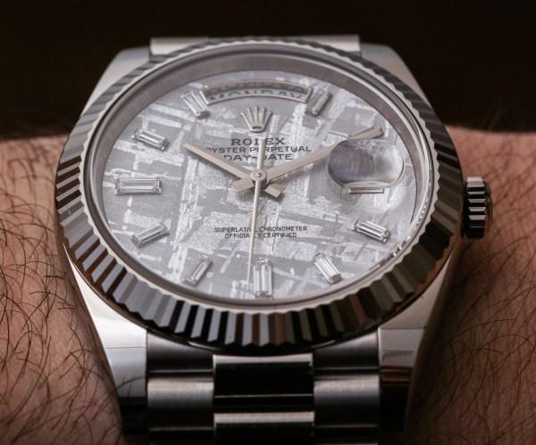 Rolex Day-date 40 White Gold Meteorite Dial 228239 Watch