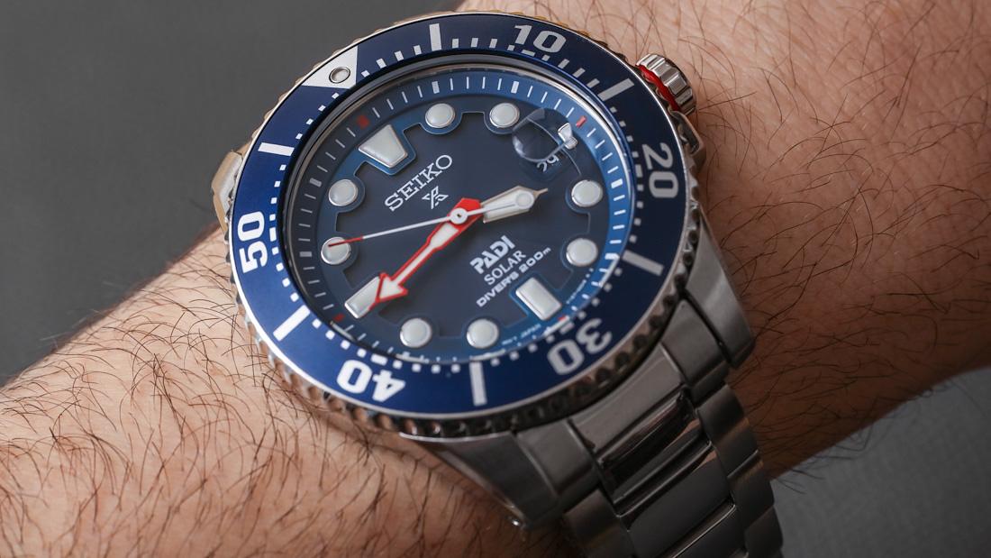 Seiko Prospex Solar Diver SNE435 PADI Watch Review | aBlogtoWatch