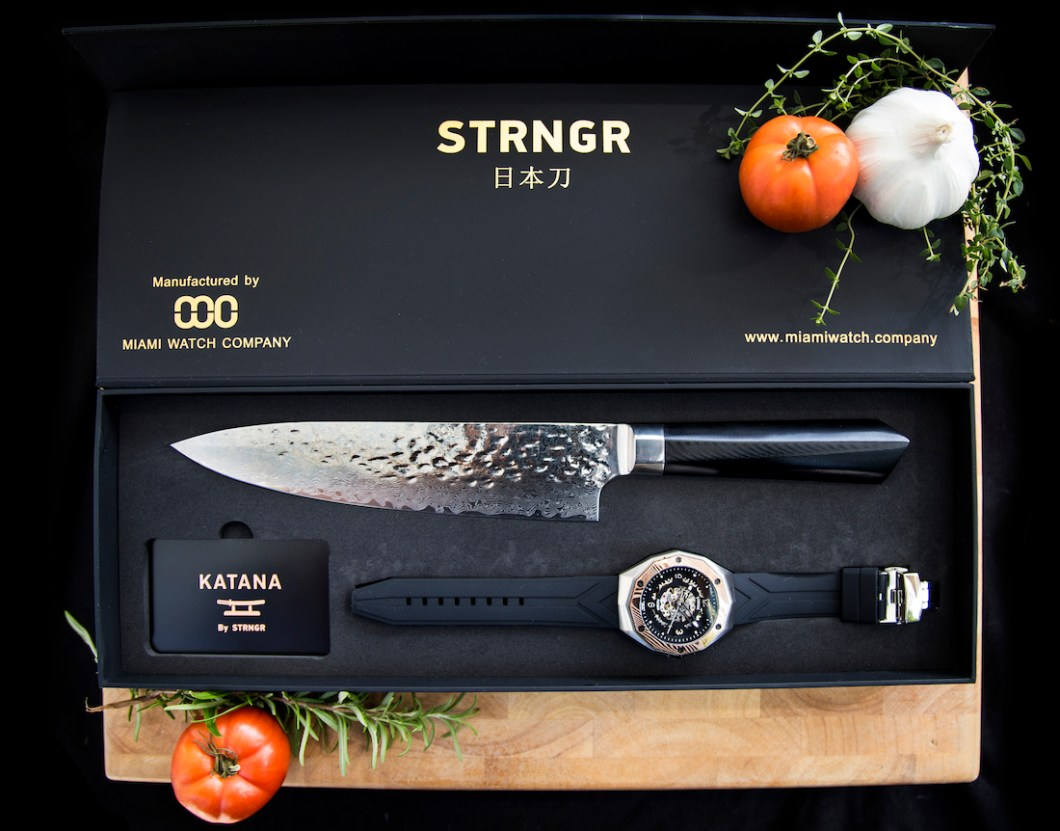 STRNGR Katana Knife & Watch Collection Watch Releases