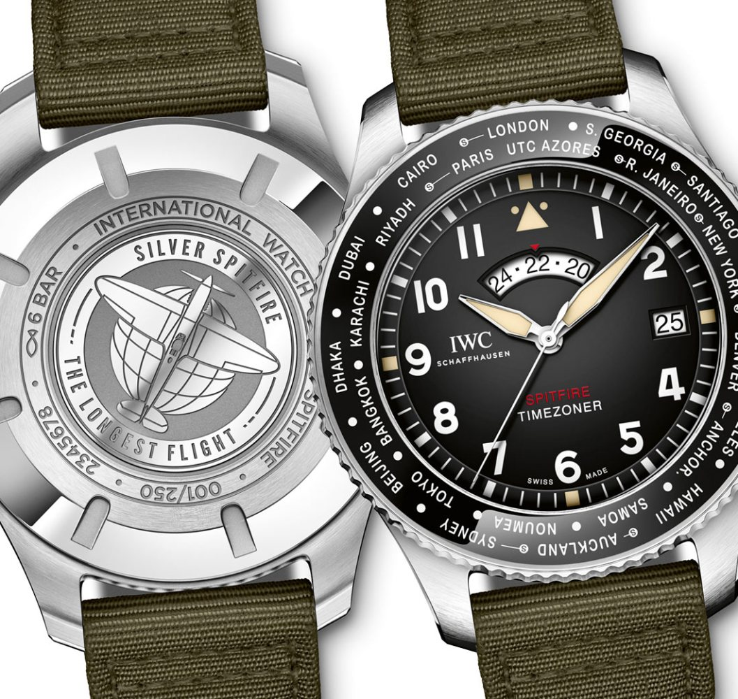 883eb047348 IWC Pilot s Watch Timezoner Spitfire Edition  The Longest Flight  For SIHH  2019 Watch Releases