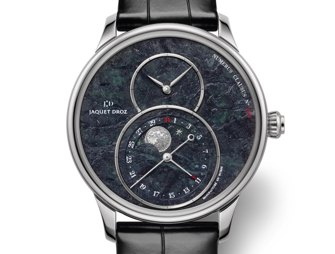 Jacquet Droz Grande Seconde Moon Swiss Serpentinite Watch Watch Releases