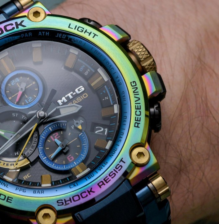 Casio G-Shock MTG-B1000RB Lunar Rainbow Watch Hands-On Hands-On