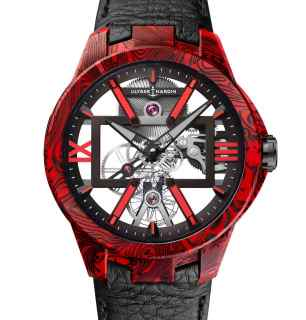 Ulysse Nardin Skeleton X Magma Watch Fuses Carbon And Epoxy To Striking Effect Watch Releases