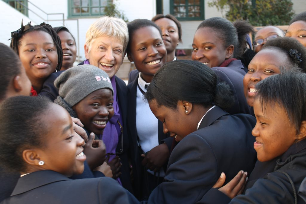 Roedean Academy pupils with Sandi