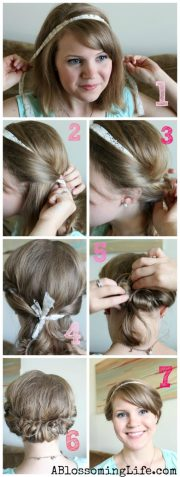 easy twisted updo long short