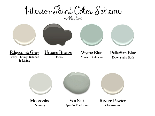 Interior Paint Colors - A Blue Nest