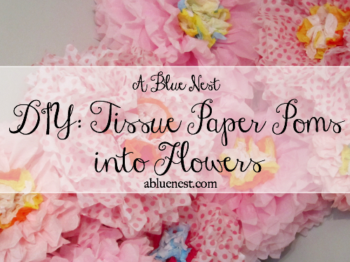 tissue paper diy - A Blue nest