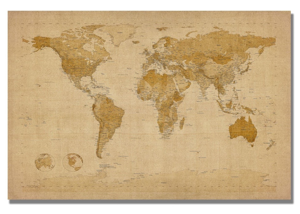 Best Large Wall Maps | A Blue Nest