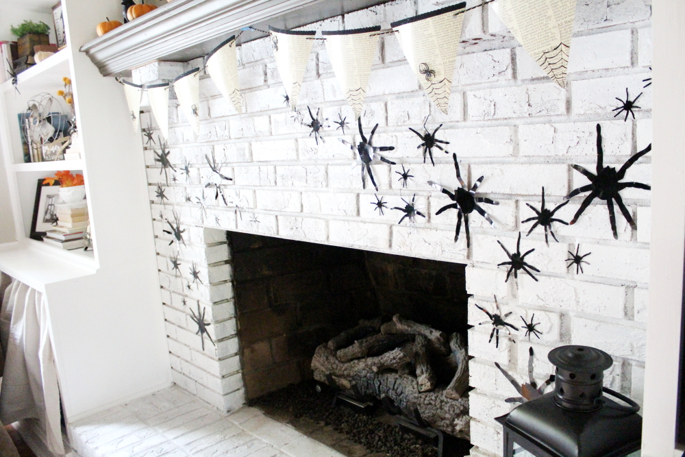Harry Potter Halloween: Our Fireplace | A Blue Nest