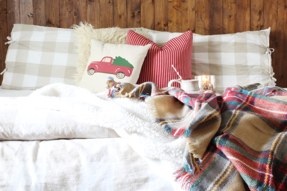 Simple & Cozy Christmas Bedroom | A Blue Nest