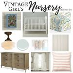 Vintage Girl's Nursery Inspiration Board