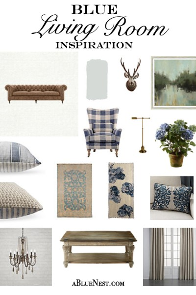 Blue Living Room Inspiration