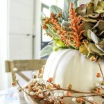 DIY Floral Pumpkin Centerpiece