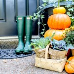 Classic Fall Front Porch