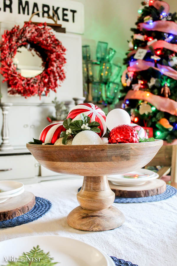 Quick easy christmas centerpiece a blue nest