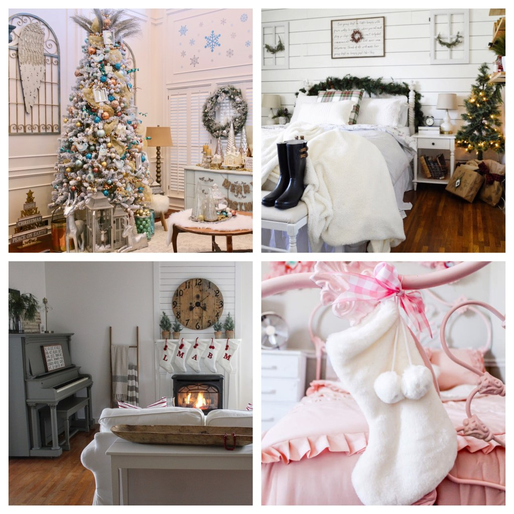 A blog hop featuring tours of 12 bloggers' favorite rooms decorated for Christmas.
