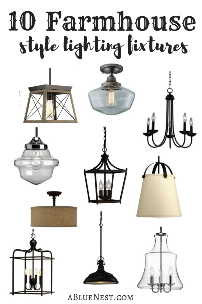 Looking to bring some farmhouse flair to your home? I rounded up 10 farmhouse style lighting fixtures that will give you that Fixer Upper feel!